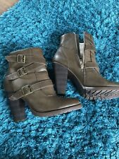 Fiore Brown Heels Boots Size 7 Great For Winter