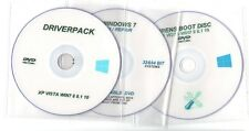 WINDOWS 7 SYSTEM REPAIR RECOVERY & DRIVERPACK DRIVERS DISC & HIRENS BOOT 3x DVD