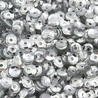 1200 Pailletten Ø 4mm Silber Gewölbt im Blister für Kleidung Schmuck BEST PAI11