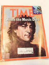 """Vintage Time Magazine - December 22, 1980  """"When The Music Died"""": John Lennon"""