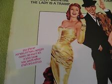 """PAL JOEY Soundtrack RARE """"For Sale In Israel Only"""" Hebrew Sleeve / Frank Sinatra"""