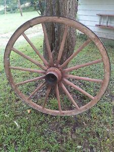 "Vintage 14 Spoke 48"" Wagon Wheel"