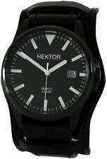 Héctor piloto militar federal banda reloj hombre de acero inoxidable negro PVD fecha 10atm