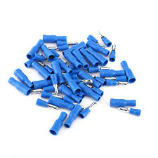 100PCS Blue Assorted Bullet Butt Connector Insulated Crimp Cable Wire Terminals