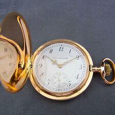 alte Sprungdeckel Taschenuhr 585/- Gold 3 Deckel Union Horlogeré um 1900