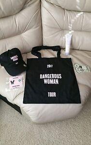 ariana grande merchandise, lotion sold already.  Hat, pin, $, & bag bundle  $200