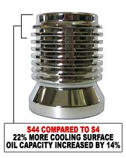 K&P Engineering Stainless Micronic Oil Filter S44 XL Chrome for Harley Davidson