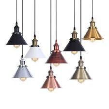 20th C. Factory Filament Metal Single Pendant E27 Light Suspension Ceiling Lamp
