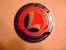 Lionel ZW -181 Nameplate