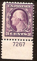 US Stamp #501~ MNH OG ~ Plate Number Single [PNS] ~ Always Free Shipping!!!