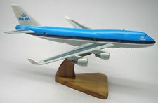 B-747 Boeing KLM Airlines B747 Airplane Desk Wood Model Small New
