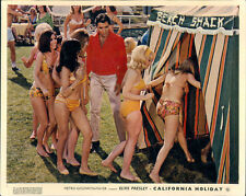 CALIFORNIA HOLIDAY SPINOUT ELVIS PRESLEY BIKINI GIRLS RARE ORIGINAL LOBBY CARD
