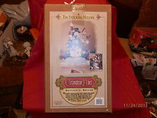"Grandeur Noel Snowman 14"" Tall Stocking Holder / Table Decoration New In Box"