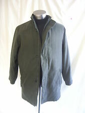 """Mens Coat - Simon Taylor, size S 35-37"""" 89-94cm, dark grey, quilted, used - 0108"""
