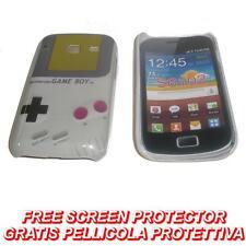 Pellicola+custodia BACK COVER GAME BOY GRIGIO per Samsung Galaxy Y Duos S6102