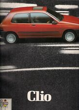 Renault Clio Early-Mid 1991 UK Market Sales Brochure RT RN RL 1.2 1.4 1.8 1.9D