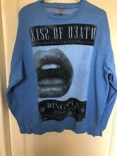 Men's Sweat Top By RINGSPUN SIZE Large In Blue Marl Colour