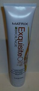Matrix Biolage Exquisite Oil w/ Moringa Creme Hair Conditioner 10.1oz Tube QTY 3