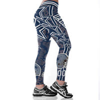 Dallas Cowboys Womens Slim Fitness Leggings Sport 3D Yoga Pants Full Size