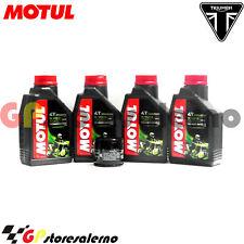 TAGLIANDO OLIO + FILTRO MOTUL 5100 15W50 TRIUMPH 955 SPRINT ST 2001