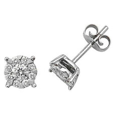 Orecchini a lobo con diamante oro bianco Premium 0.60ct ct