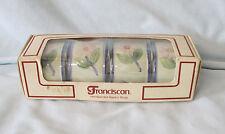 Franciscan Twilight Rose HTF Boxed set of 4 Napkin Rings