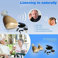 1x Rechargeable Digital In Ear Hearing Aid Adjustable Tone Sound Amplifier Hot