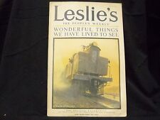 1912 APRIL 11 LESLIE'S WEEKLY MAGAZINE - THE ELECTRIC LOCOMOTIVE - ST 1200