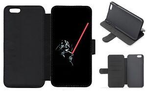 DARTH VADER STAR WARS Wallet Flip Phone Case iPhone Galaxy 4 5 6 7 8 Plus X (D)