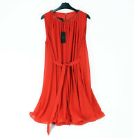 NWT! Ted Baker Womens Draped Beaded Dress with belt Red 3 (UK 12, M) embellished