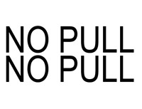 NO PULL AIRPLANE 2 decal sticker Cessna Piper LSA decals airplane WING STRUT