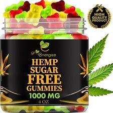 Hemp Oil Infused Sugar Free Vegan Fruity Gummies For Pain & Anxiety 1000 mg 4 oz