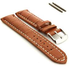Men's Genuine Leather Watch Strap Band VIP Alligator Grain 18mm 20mm 22mm 24mm