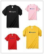 Champion T-Shirt (7 Colors)(S-3XL) Script Logo Adult Tee Cotton Athletic Fit