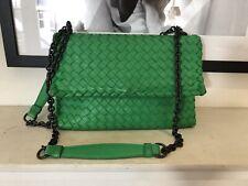 Bottega Veneta Green Olimpia Small Intrecciato Shoulder Bag
