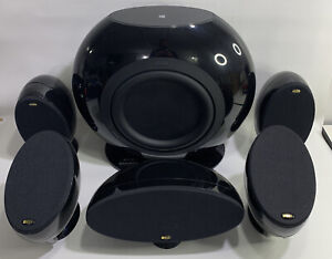 KEF 5.1 Surround (4) HTS3001 Satellites + HTC3001 Center + HTB2 Sub Gloss Black
