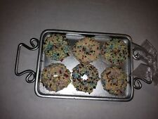 Christmas Holiday Hanging Resin Ornament Baking Pan Donuts with Sprinkles Treats