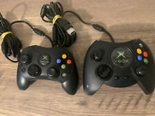 Xbox Controllers Black S-Type Duke Original Genuine Official Not Tested OEM
