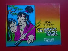 The Legend of Kage (Nintendo NES) Authentic Game Manual Book