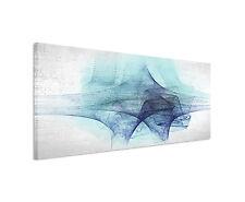 150x50cm Panorama Immagine Paul Sinus Art Astratto Blu Grigio Salotto