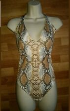 BNWT Gorgeous brown snakeskin print PLT swimming bathing suit costume size 14