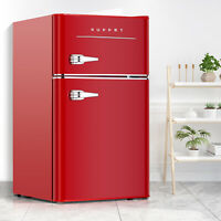3.2 Cu.Ft 2-Door Retro Mini Fridge Compact Mini Refrigerator Home & Office Red