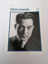 Sessue Hayakawa - Fiche cinéma - Portraits de stars 13 cm x 18 cm