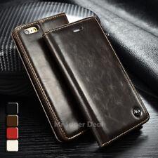 iPhone 5C Custodia flip pelle sintetica Portafogli Case Cover Marrone