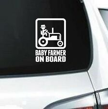 B217 BABY FARMER ON BOARD VINYL DECAL CAR TRUCK SUV LAPTOP