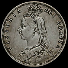 More details for 1887 queen victoria jubilee head silver half crown, vf