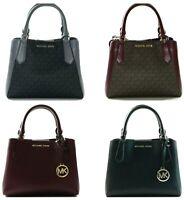 Michael Kors Kimberly SM Satchel PVC Signature Leather Crossbody Bag