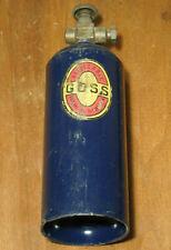 Vintage Goss 1 Lb Refillable Propane Cylinder Tank