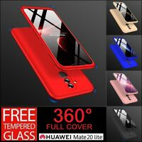 For Huawei Mate 20 Lite 360° Full Protective Hybrid Case + Tempered Glass Cover