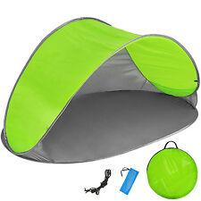 Pop Up Strandmuschel Wurfzelt Sonnenschutz Windschutz Zelt UV Schutz grün grau